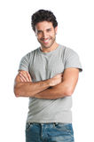 Happy guy isolated Stock Images