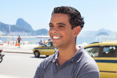 Happy guy at Rio de Janeiro Stock Images