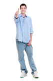 Happy guy showing thumbs up Stock Photos