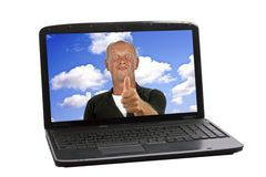 Happy guy showing thumbs up Royalty Free Stock Image