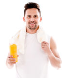 Happy gym man Stock Photos