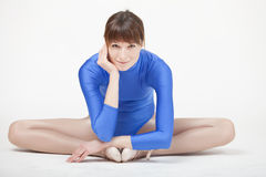 Happy gymnastic woman Stock Photography