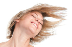 Happy hairstyle Royalty Free Stock Images