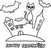Happy halloween. Text Happy Halloween with symbols. vector image Stock Photos
