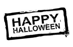 Happy halloween. Black halloween advertisement  over white background. isolated illustration Royalty Free Stock Photography
