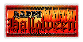 Happy Halloween. A devilishly hot happy halloween message Royalty Free Stock Photos