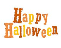 Happy Halloween. Letters / text isolated on white background . Specially for Halloween themed web sites and greeting cards Royalty Free Stock Image