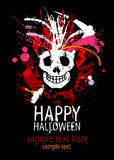 Happy Halloween. Happy Halloween Design template with grunge skull and place for text Stock Image
