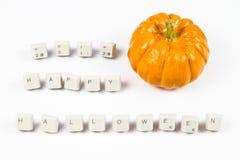 Happy halloween. Pumpkin and happy halloween text royalty free illustration