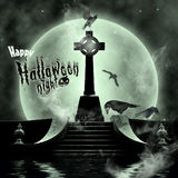 Happy Halloween. Photo compilation. Photo, 3D and hand drawing elements Royalty Free Stock Images
