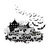 Happy Halloween abstract inscription Royalty Free Stock Photography