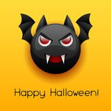 Happy Halloween angry vampire. Celebration party greeting card Vector Illustration