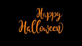 Happy Halloween Animated Lettering stock video