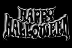 Happy Halloween Art Title. Illustration of happy halloween title isolated on black background Royalty Free Stock Photo