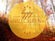 Happy Halloween Autumn conceptual creative illustration Stock Photography
