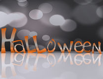 Happy halloween background - 3d Stock Image