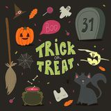 Happy Halloween background, card for your design. Stock Photos