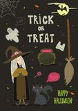 Happy Halloween background, card for your design. Stock Photo