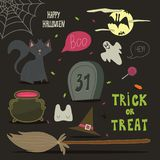 Happy Halloween background, card for your design. Royalty Free Stock Photos