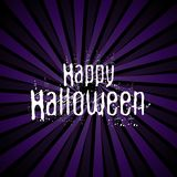 Happy Halloween background with grunge lettering. Happy Halloween background with grunge style lettering Vector Illustration
