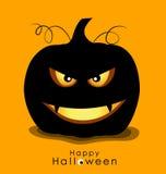 Happy Halloween background with Halloween pumpkin. Vector illust Stock Photography