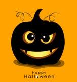 Happy Halloween background with Halloween pumpkin. Vector illust Stock Image