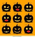 Happy Halloween background with Halloween pumpkin. Vector illust Royalty Free Stock Photo