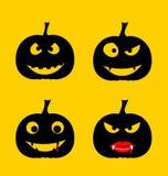 Happy Halloween background with Halloween pumpkin. Vector illust Stock Photo