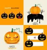 Happy Halloween background with Halloween pumpkin. Vector illust Royalty Free Stock Images