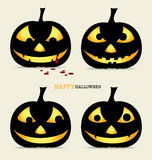 Happy Halloween background with Halloween pumpkin. Vector illust Royalty Free Stock Photography