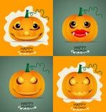 Happy Halloween background with Halloween pumpkin. Vector illust Royalty Free Stock Image
