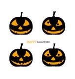 Happy Halloween background with Halloween pumpkin. Vector illust Stock Images