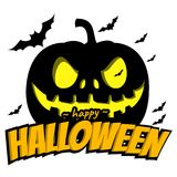 Happy halloween background. With bat , vector illustration EPS 10 Stock Photography