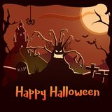 Happy Halloween background illustration. Can be used with your own text. Vector poster. Eps10 royalty free illustration