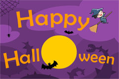 Happy halloween background  illustration Royalty Free Stock Images