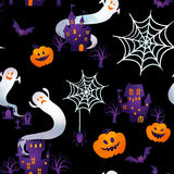 Happy halloween. Halloween background image by watercolor paint touch stock illustration