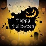 Happy halloween. Background pumpkin banner illustration Stock Photos