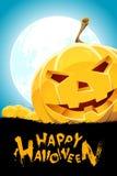 Halloween Background with Pumpkins stock illustration