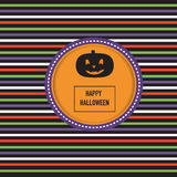Happy Halloween background with scary pumpkins vector. illustrat Royalty Free Stock Image