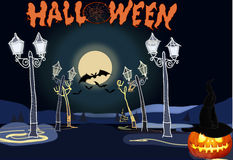 Happy Halloween background scene Royalty Free Stock Image