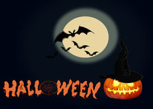 Happy Halloween background scene Stock Images