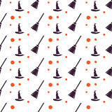 Happy Halloween Background. Seamless pattern Royalty Free Stock Photo