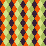 Happy Halloween Background. Seamless pattern. Vector illustration. Collection of seamless patterns in the traditional holiday colo Stock Image