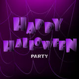 Happy halloween background with spiderweb Royalty Free Stock Photography