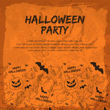 Happy Halloween background Royalty Free Stock Images