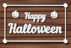Happy Halloween Background. Vector illustration. Stock Images
