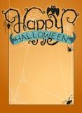 Happy Halloween background. Vector illustration of halloween background with happy halloween typography Stock Photo