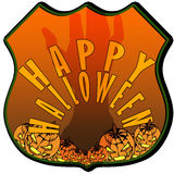 Happy Halloween badge Royalty Free Stock Image