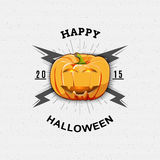 Happy Halloween badges logos and labels for any Royalty Free Stock Photo