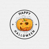 Happy Halloween badges logos and labels for any Stock Images